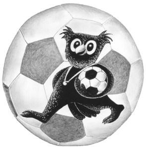 Fußballeule  Zeichnung: Petra Elsner