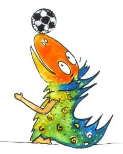 Pausenzeichen Dino:-Zeichnung: Petra Elsner