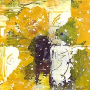 Traumfänger, Acryl. 17 x 17 auf Karton von Petra Elsner