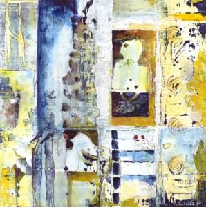 Traumfänger 8, 17 x 17, Acryl auf Karton von Petra Elsner