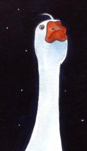 Die wachende Gans. Zeichnung von Petra Elsner