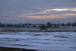 Winterlicher Blick ins Land kurz vor Templin. Foto: Petra Elsner