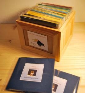 Handgebaute Minibücher.