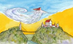 Die Windsbraut. Zeichnung: Petra Elsner