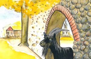 Der Teufel vom Mühlentor. Zeichnung von Petra Elsner