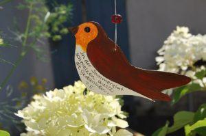 Weiser Vogel von Petra Elsner