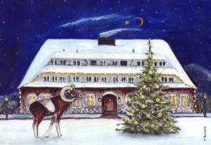 Hotel Döllnsee. Zeichnung von Petra Elsner
