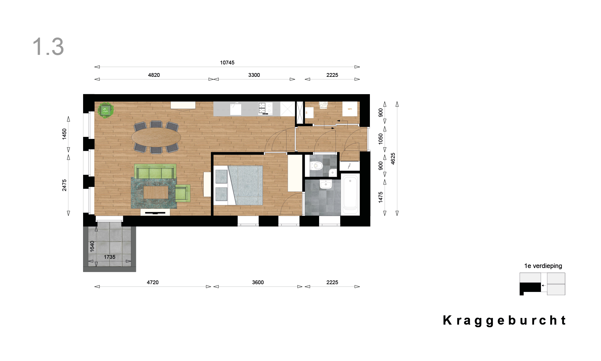Kraggenburcht – apartment type 3