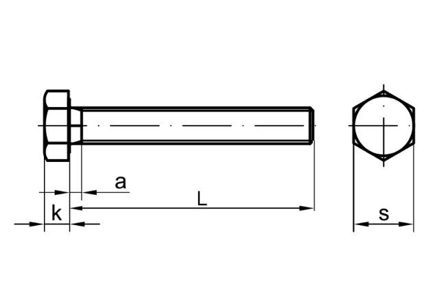 DIN 961 Sechskantschraube M8x1x35 Feingewinde annähernd