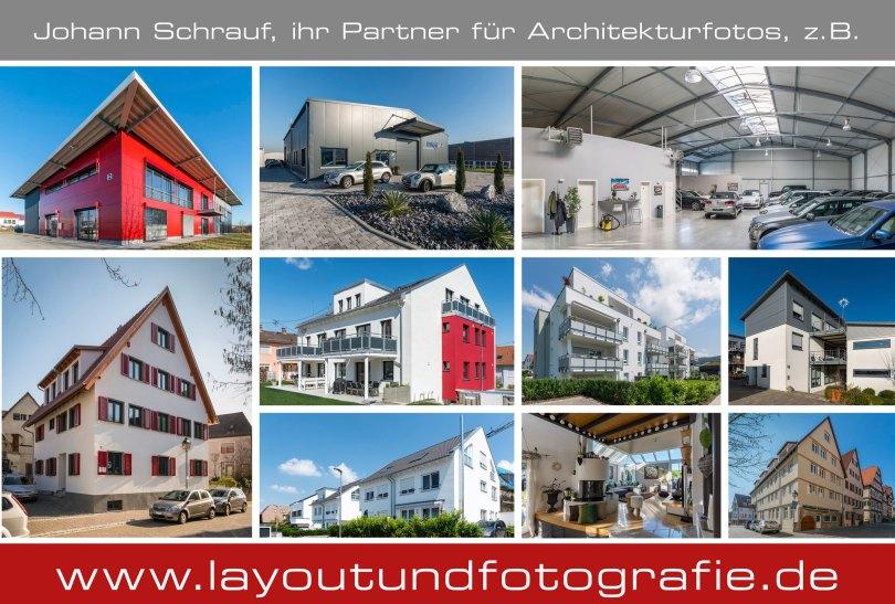 Architekturfotos von Industrie- und Wohngebäuden