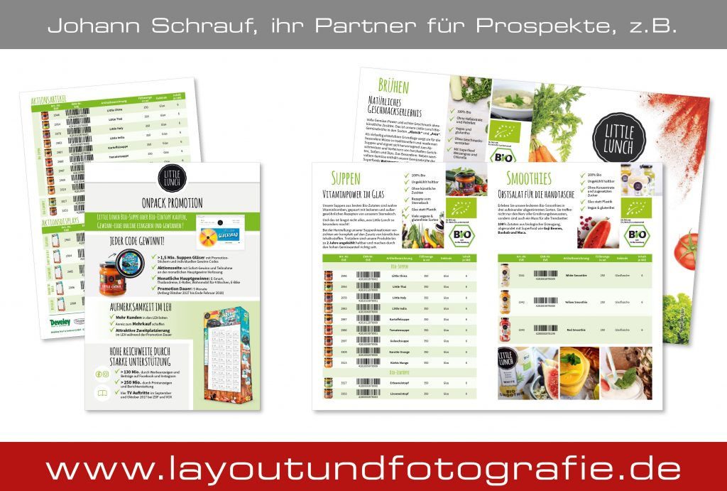 Produktflyer für Little Lunch
