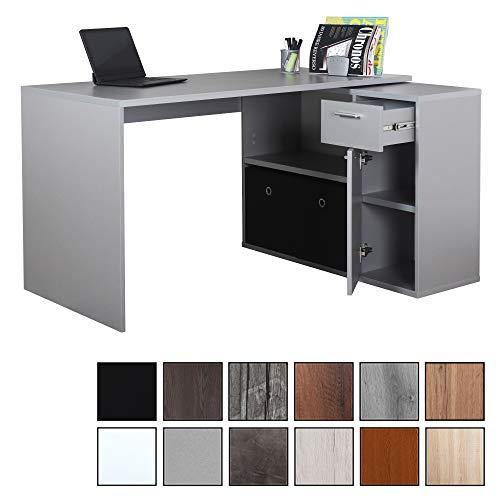 Schreibtisch Grau Holz 2021