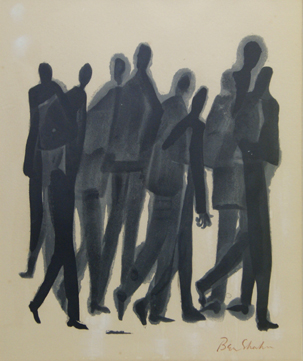 "Ben Shahn, ""Men"", litho"