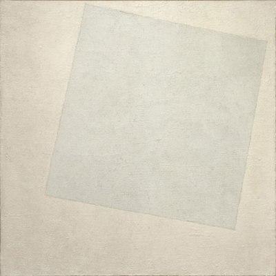 Kazimir Malevich, Suprematist Composition: White on White, 1918. Oil on canvas.