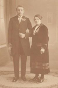 Willem Vellekoop en Hubertha Vellekoop-Dubbelman trouwden in maart 1926