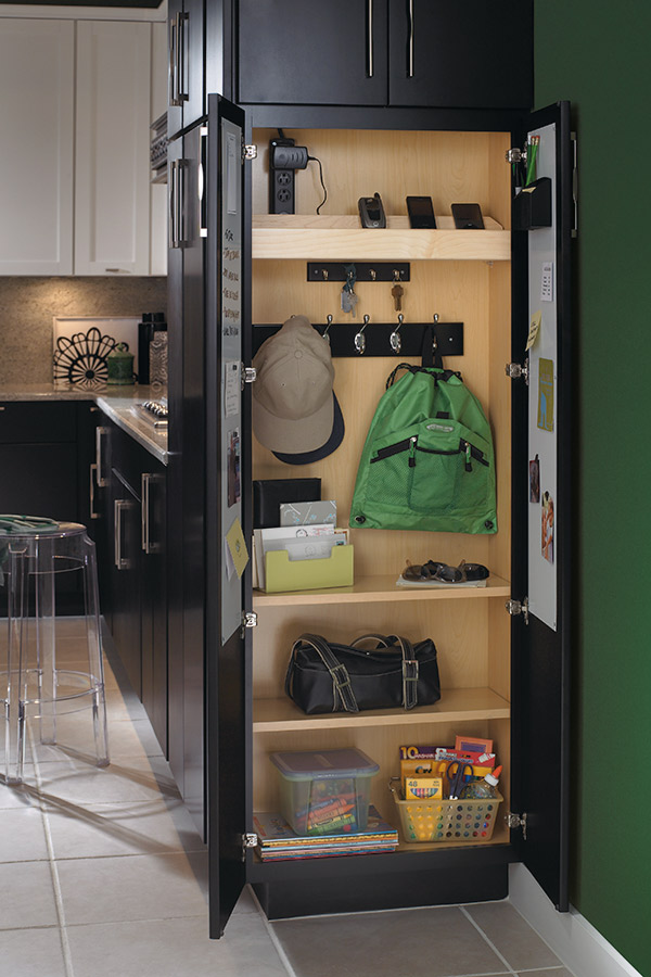 Utility Organizer Drop Zone Cabinet  Schrock Cabinetry
