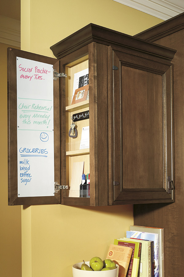 Wall Message Center Cabinet Schrock Cabinetry