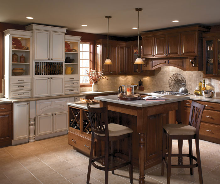 Two Tone Kitchen Cabinets  Schrock Cabinetry