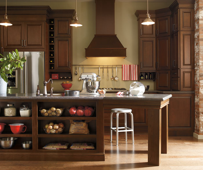 Dark Cherry Kitchen Cabinets  Schrock Cabinetry