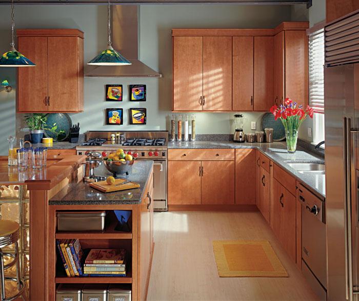 Light Cherry Kitchen Cabinets  Schrock