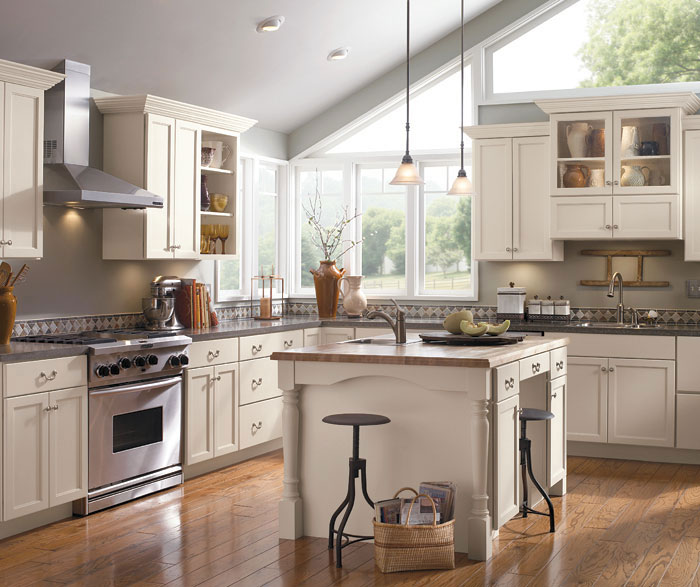 Off White Kitchen Cabinets  Schrock Cabinetry