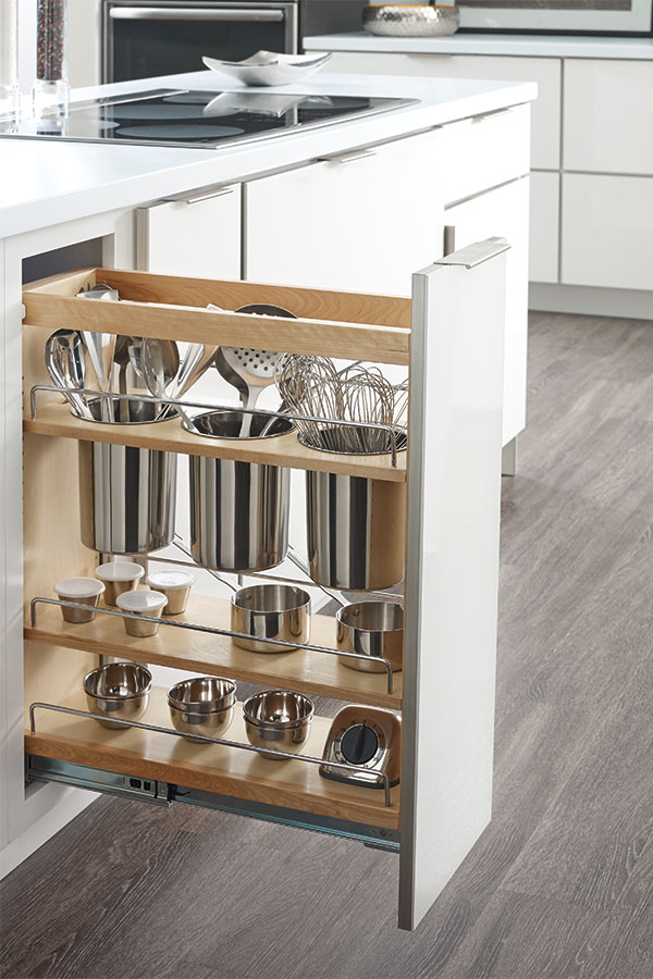 Base Utensil Pantry Pullout Cabinet  Schrock Cabinetry