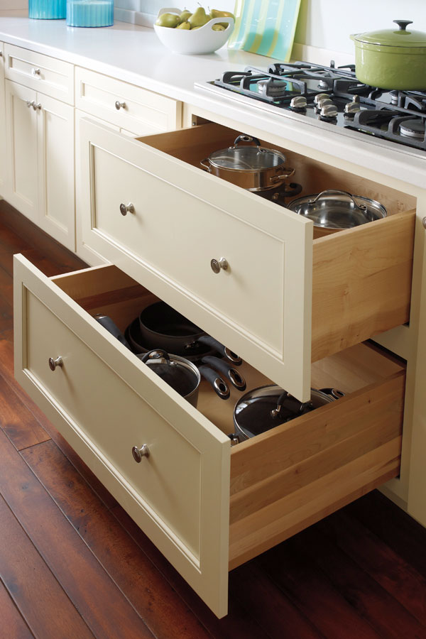 Two Drawer Base Cabinet  Schrock Cabinetry