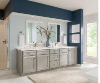 Gray Bathroom Cabinets - Schrock Cabinetry
