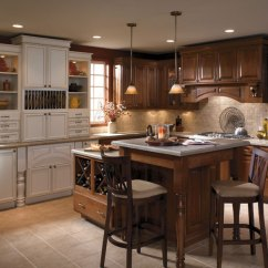 Schrock Kitchen Cabinets Sit At Island Two Tone - Cabinetry