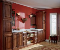 Cherry Bathroom Cabinets - Schrock Cabinetry