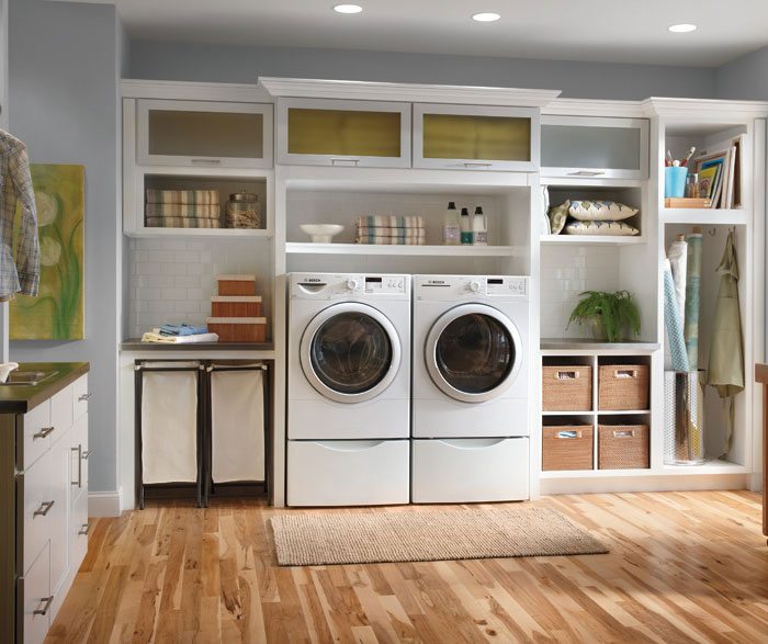 White Laundry Room Cabinets  Schrock