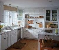 White Shaker Style Kitchen Cabinets - Schrock