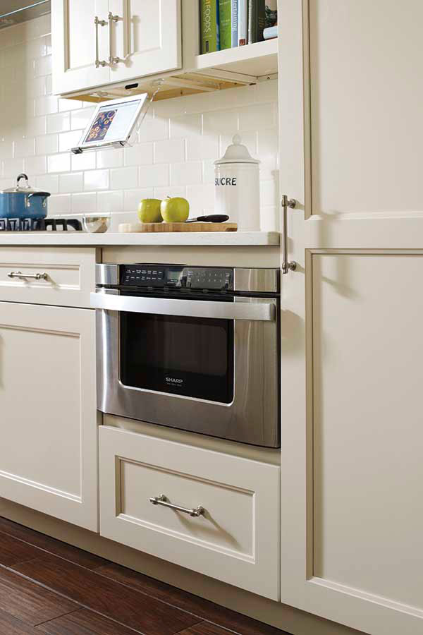 Base Built In Microwave Cabinet  Schrock Cabinetry
