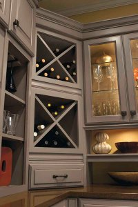 Wine Storage Cabinet - Schrock Cabinetry