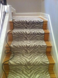Zebra Staircase: two different ways to carpet the stairs ...