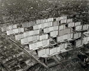 Pruitt-Igoe as it looked in February 1955.