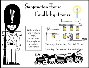 Candle light tours With antique and vintage toys.