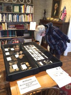 The artifact display cases at the Sappington House Library of Americana.