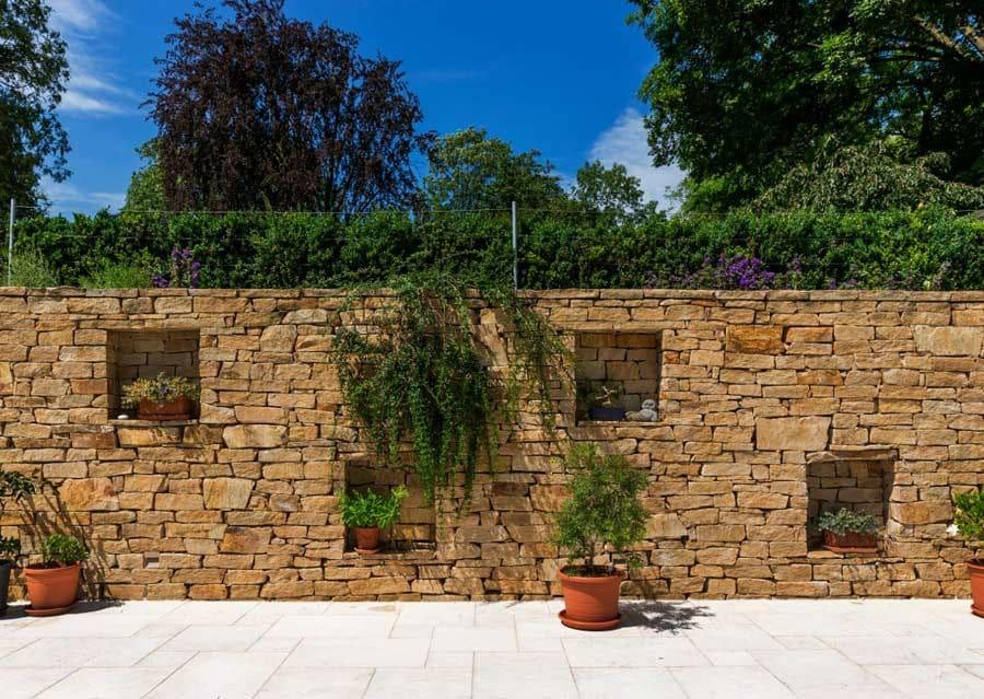 balkon sichtschutz steinmauer - boisholz, Garten ideen