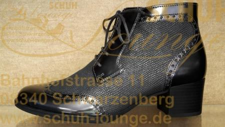 Trendstark und Chic präsentieren sich diese Ankleboots aus softem Kalbsleder im Metallic Look.
