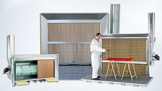 paint fog extraction walls with