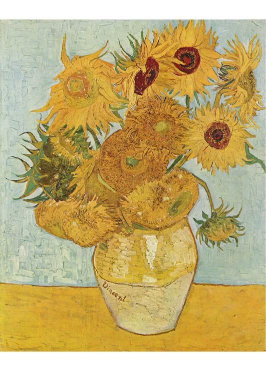 Bild Vincent van Gogh  Sonnenblumen  Abb 17055