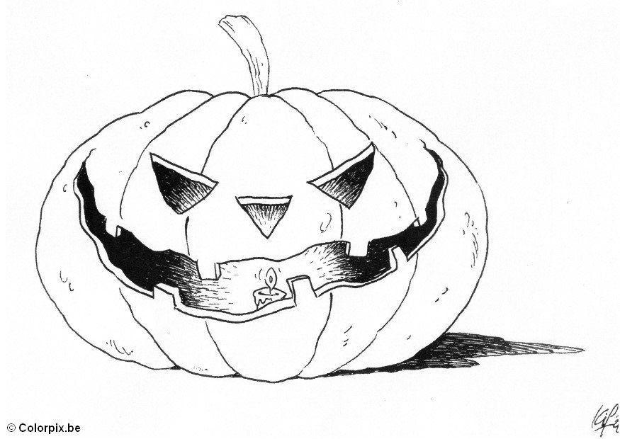 Malvorlage 04 halloween kürbis - Kostenlose Ausmalbilder