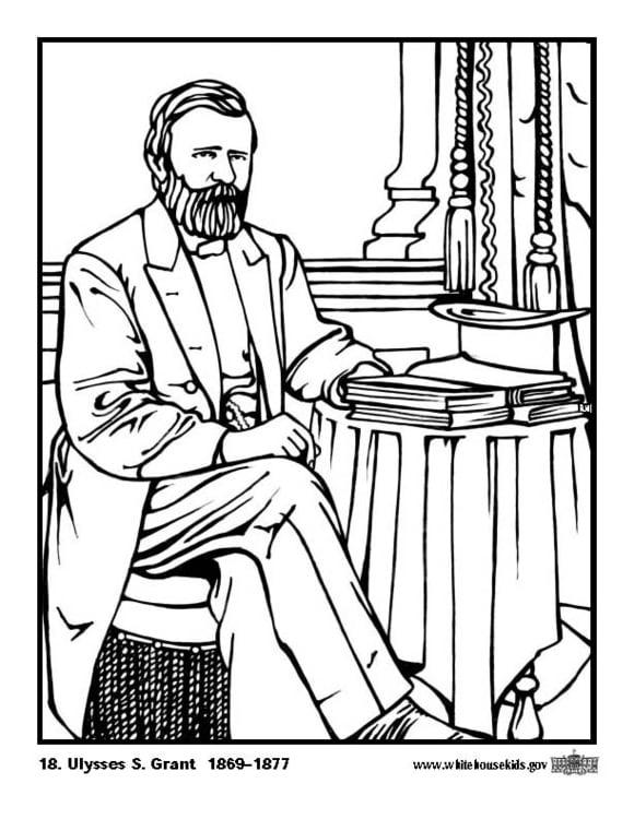 Malvorlage 18 Ulysses S Grant - Kostenlose Ausmalbilder