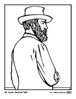 Malvorlage 20 James Garfield   Kostenlose Ausmalbilder Zum ...
