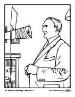 Malvorlage 29 Warren Harding   Kostenlose Ausmalbilder Zum ...