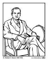Malvorlage 31 Herbert C. Hoover   Kostenlose Ausmalbilder ...
