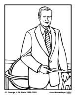 Malvorlage 41 George H. W. Bush   Kostenlose Ausmalbilder ...