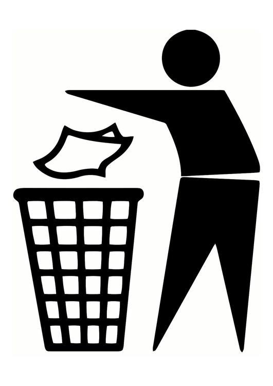 Malvorlage Abfall Ausmalbild 25540