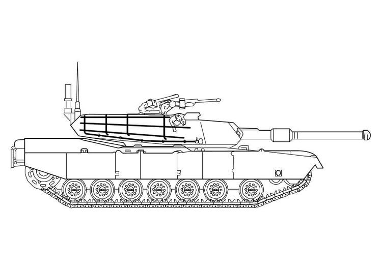 Malvorlage Abrams Panzer - Kostenlose Ausmalbilder Zum